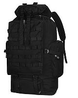 Тактический туристический  рюкзак  раздвижной на 80-100л TacticBag Черный, фото 4