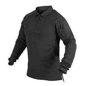 Футболка Polo RANGE® с д/рукавами - чёрная