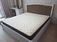 Кровать двухспальная Классик с подъемным механизмом, дерево ясень, фото 1