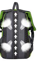 Городской спортивный (велорюкзак) рюкзак FLAME HORSE на 25литров Салатовый, фото 4
