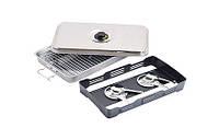 Мобильная компактная коптильня из нержавейки для горячего копчения продуктов