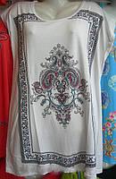 футболка женская удлиненная батал