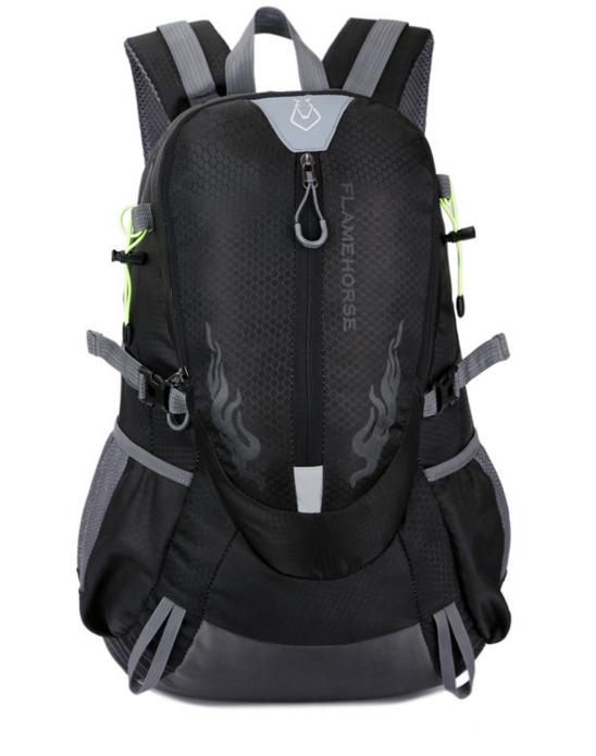 Городской спортивный (велорюкзак) рюкзак FLAME HORSE на 25литров Черный