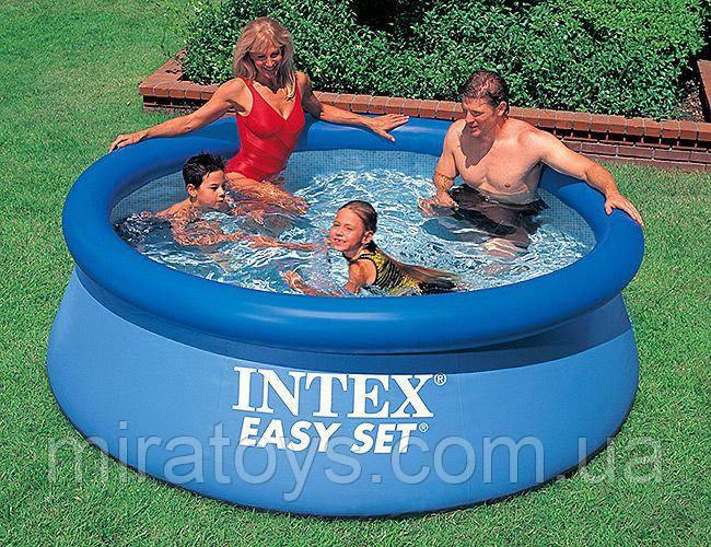 ✅Семейный надувной бассейн Intex 28110 244х76см