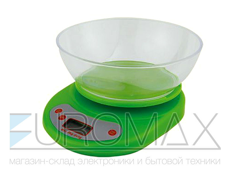 Весы электронные бытовые 5кг кухонные с круглой чашей 24шт YZ-1811B-EK-01