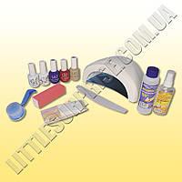 Стартовый набор маникюра гель-лаком с лампой Sun ONE 48 W