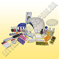 Стартовый набор для маникюра, педикюра, наращивания ногтей и покрытия гель-лаком с лампой Sun ONE 48 W
