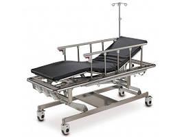 Каталка для транспортировки пациентов механическая на колесах, с поручнями и регулировкой высоты, стальной каркас(4 секции) - OSD-A105B