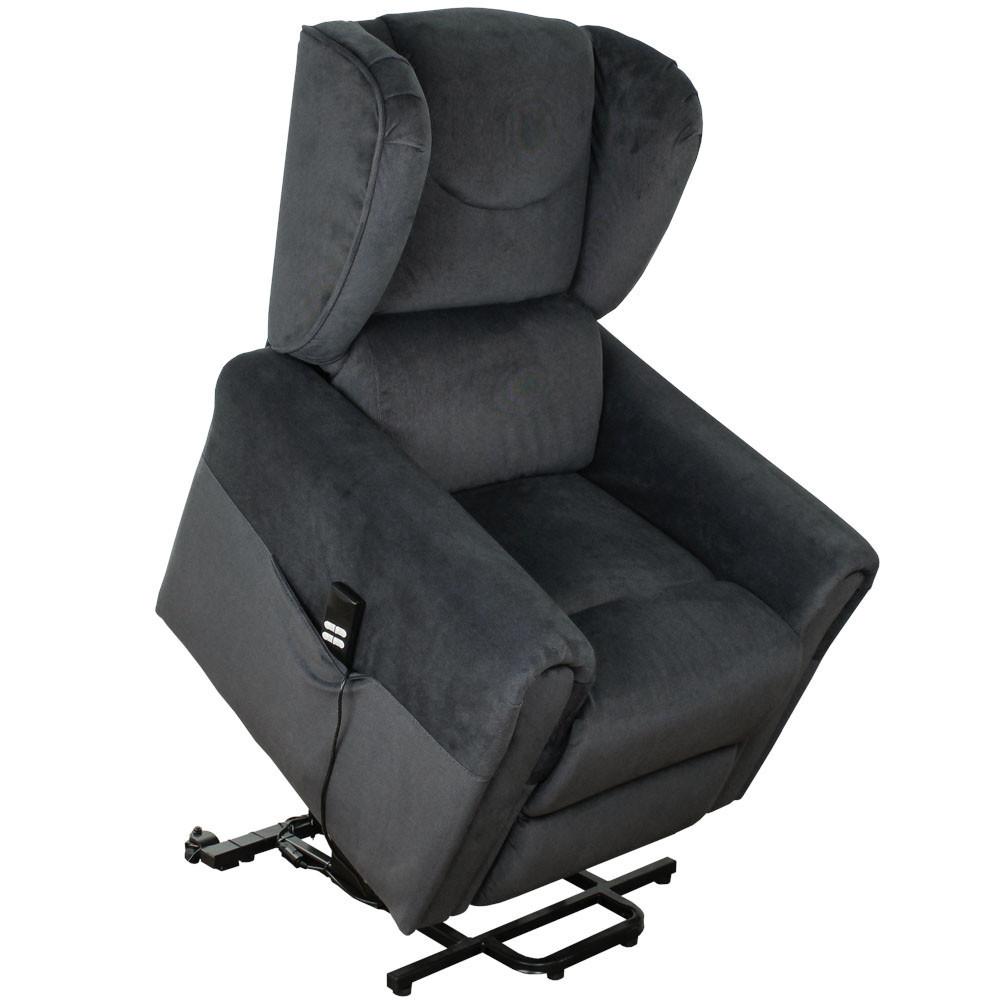 """Крісло подъеное з двома моторами """"BERGERE"""" (колір: сірий), змінний кут нахилу спинки і підніжки, функція"""