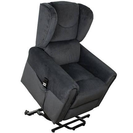 """Крісло подъеное з двома моторами """"BERGERE"""" (колір: сірий), змінний кут нахилу спинки і підніжки, функція, фото 2"""