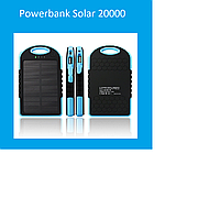 Powerbank Solar 20000 Black, blue!Лучший подарок