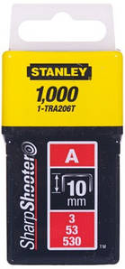 Скобы Stanley Light Duty тип А, 10мм, 1000шт