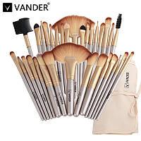 Профессиональные кисти для макияжа 32 шт VANDER