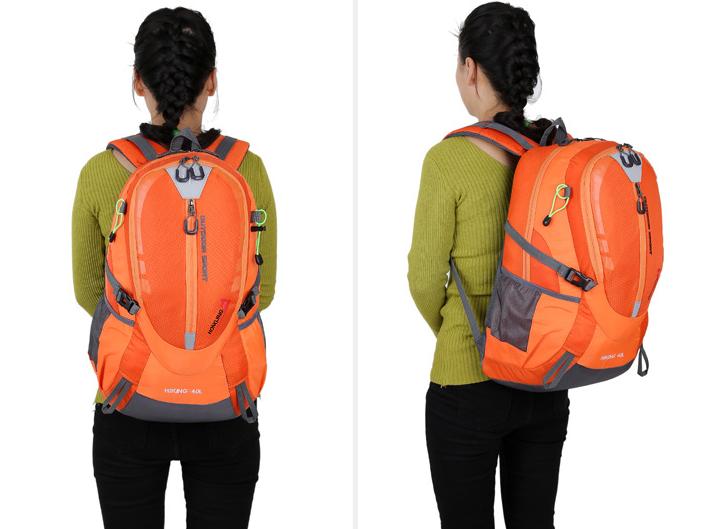 Городской спортивный (велорюкзак) рюкзак FLAME HORSE на 35литров Оранжевый