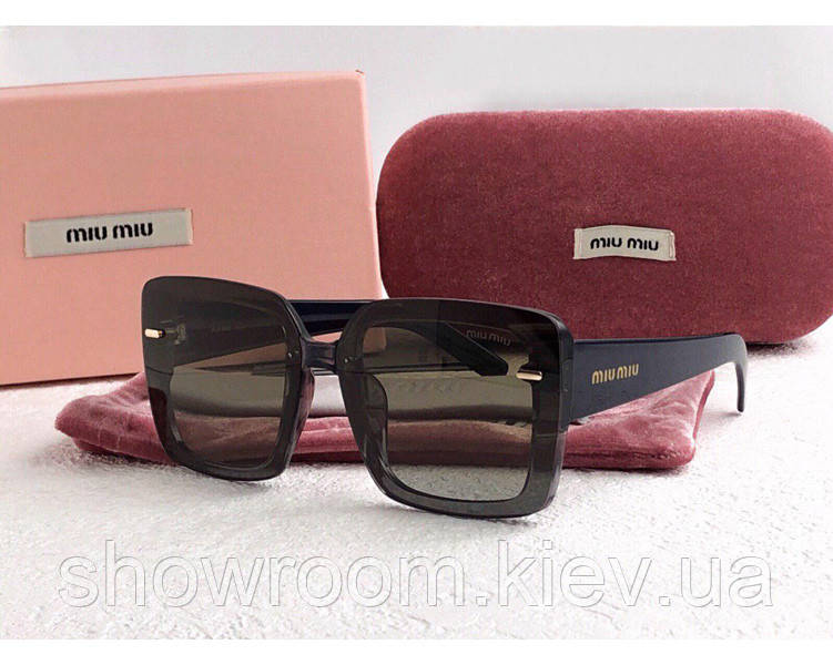 Женские солнцезащитные очки в стиле Miu Miu (902) green