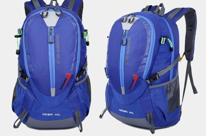 Городской спортивный (велорюкзак) рюкзак FLAME HORSE на 35литров Синий