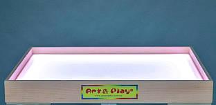 Планшет светодиодный мини 500×330 для рисования песком Ольха белый светодиод. А1