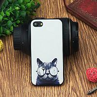 """Силиконовый чехол """"C котом"""" для IPhone 6/6s"""