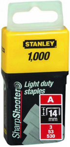 Скобы Stanley Light Duty тип А, 14мм, 1000шт