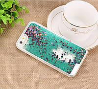 """Пластиковый чехол """"зыбучие пески"""" для IPhone 6/6s - Green, фото 1"""
