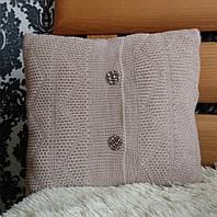 Подушка декоративная вязаная ручной работы, фото 1