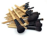Профессиональные кисти для макияжа 32 шт VANDER (черный чехол), фото 1