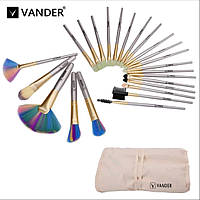 Профессиональные кисти для макияжа 24 шт VANDER