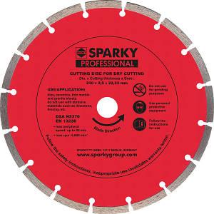 Алмазный диск с сегментным сечением Sparky 115х18x22,23мм.