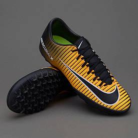 Сороконожки для футбола (бампы) Nike MercurialX Victory VI TF 831968-801 черно-оранжевые (оригинал)