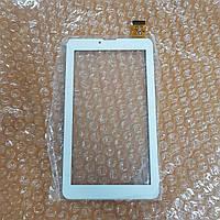 Сенсорное стекло (тачскрин) Nomi C07005 Cosmo, C07007 Polo, C07009 Alma цвет белый ПРОТЕСТИРОВАНО
