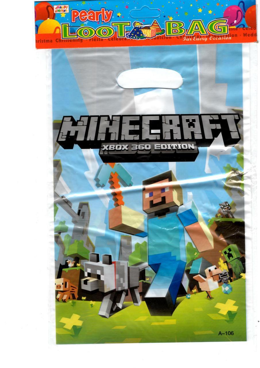 """Пакеты подарочные детские """"Майнкрафт"""" Minecraft , 10 шт/уп ..."""