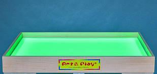 Планшет светодиодный мини 500×330 для рисования песком Ольха цветной светодиод. А5