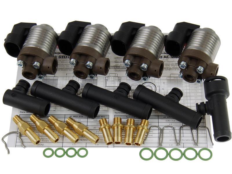 Газові форсунки AC STAG W031 4 циліндра з трійниками
