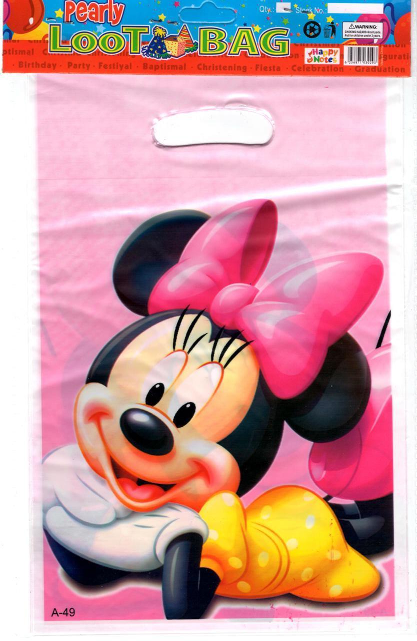 """Пакеты подарочные детские """" Минни-маус """" Minnie Mouse, 10 ..."""
