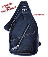 Чоловіча чоловіча спортивна шкіряна сумка слінг рюкзак бананка DARRYL, фото 1