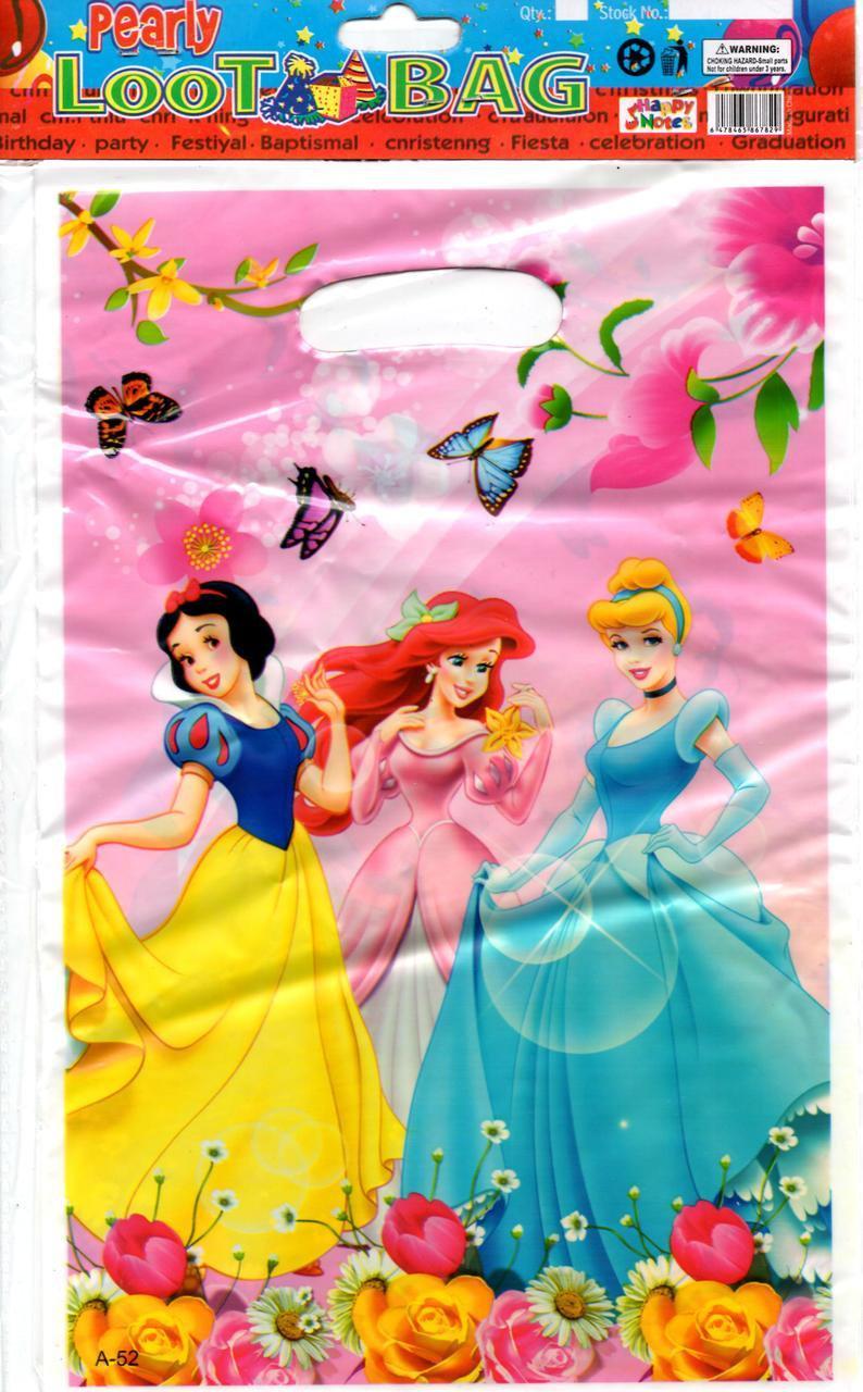 """Пакеты подарочные детские   """"Принцессы Дисней"""" Princess Disney, 10 шт/уп"""