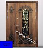Двері вхідні з полімер плитою з ковкою, фото 3