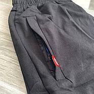 Шорты мужские хлопок Nike, размеры 46-54, чёрные, 05601, фото 2