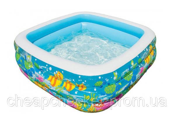 Детский Бассейн Надувной Голубая лагуна Intex 57471 Размер 159x159x50 см