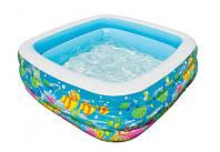 Детский Бассейн Надувной Голубая лагуна Intex 57471 Размер 159x159x50 см, фото 1