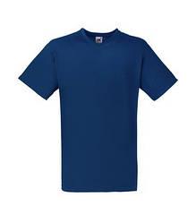 Мужская футболка с v-образным вырезом темно синяя 066-32