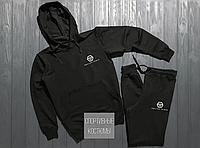 Мужской спортивный костюм Philipp Plein, черный (в стиле)