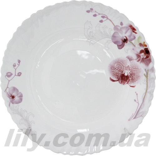 """30067 Тарілка суп 8,5"""" Рожева орхідея 61099"""