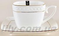 507009-1 Чашка фарфорова біла 240мл з блюдцем