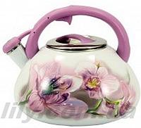 """2005 Чайник зі свистком 3л, бакелітна ручка """"Purple Handle"""""""