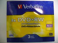 VERBATIM DVD-RW 4,7Gb slim 3pcs