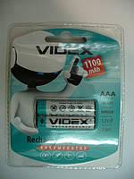 Аккумулятор VIDEX NiMh 1100mAH (AAA) RECHARGEABLE BATTERY