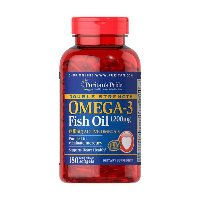 Omega-3 Fish Oil 1200 mg double strength (180 softgels) жирные кислоты Puritan's Pride