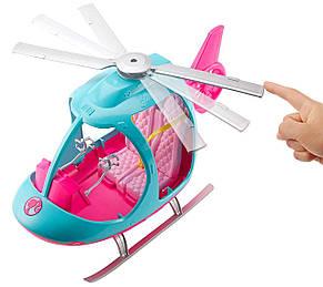 Барби Туристический вертолет Путешествия Barbie Helicopter Pink and Blue with Spinning Rotor, фото 2