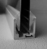 Профиль П-образный для стекла разборной 20*20*20 ММ (АЛЮМИНИЕВЫЙ)